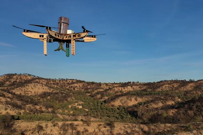 Drone for seed dispersal in Tarragona.