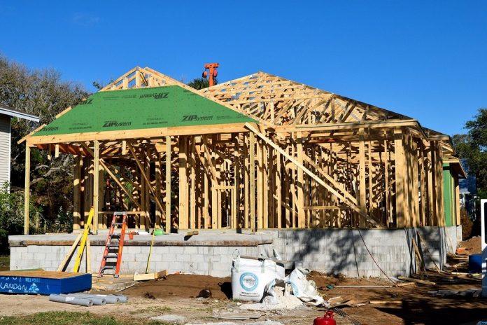 Wooden frame house